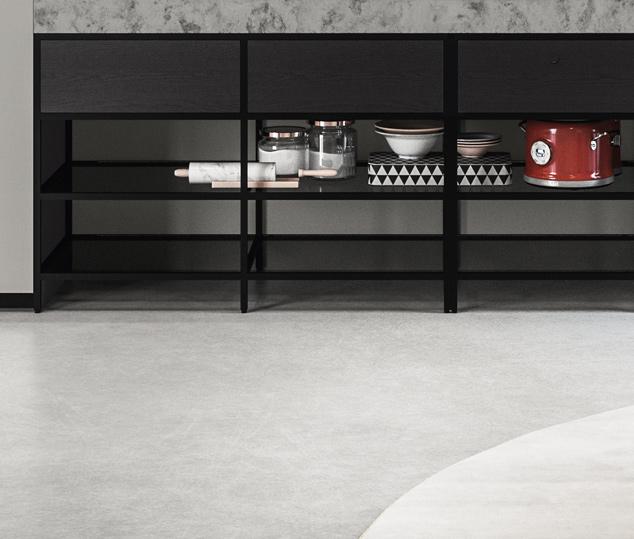 Cucina contemporanea rovere terranera | Banco Frame - Amari | MITON Cucine