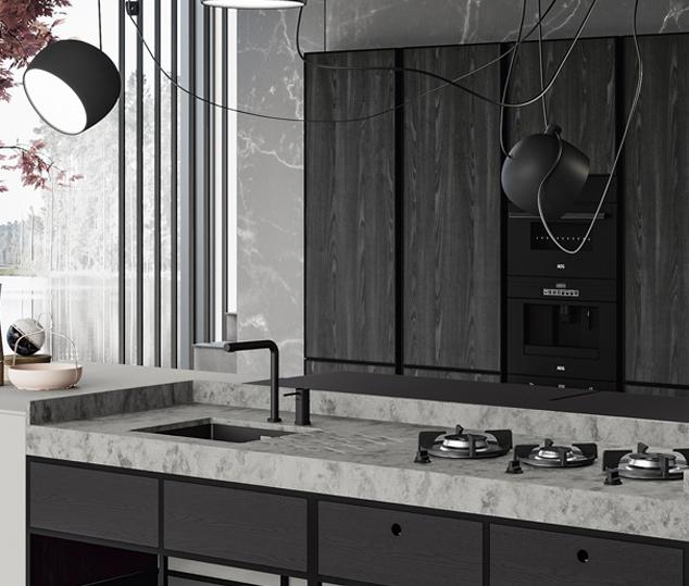 Cucina contemporanea rovere terranera | Worktop - Amari | MITON Cucine