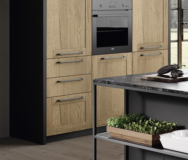Cucina industrial con dettagli vintage | Anta Colonna - Medea | MITON Cucine