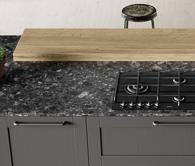 Cucina industrial con dettagli vintage | Worktop - Medea | MITON Cucine