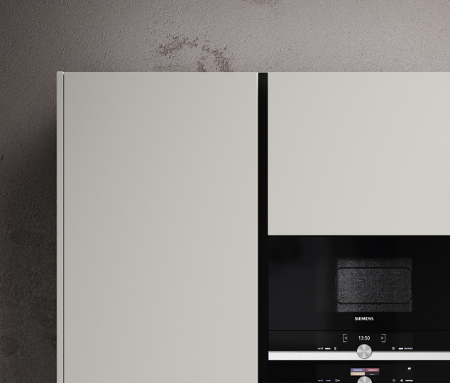 Cucina in legno noce e bilaminato opaco | Ménta_03 - Anta Colonne | MITON Cucine