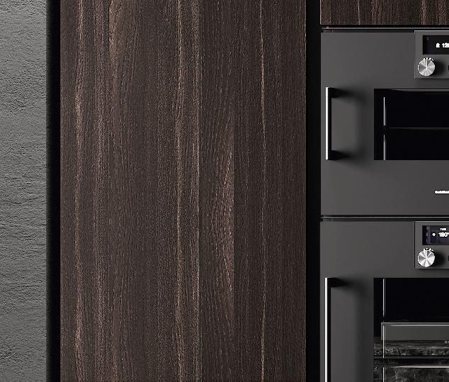 Cucina in bilaminato legno e telaio in alluminio | Ménta_01 - Anta Colonne | MITON Cucine