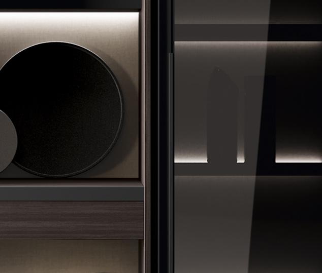Cucina in bilaminato legno e telaio in alluminio | Ménta_01 - Anta Vetrina | MITON Cucine