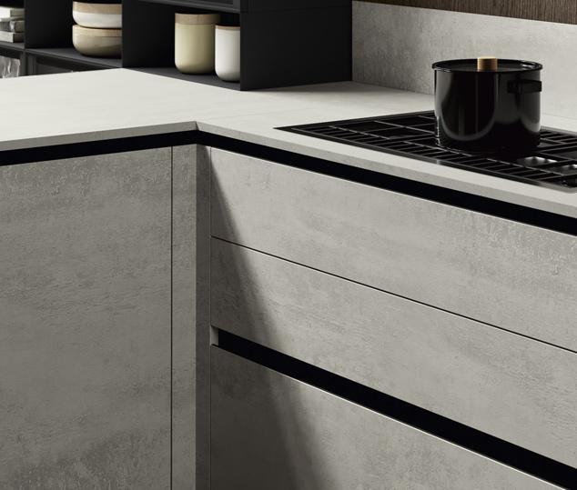Cucina in bilaminato cemento | Maniglia - Ménta_05 | MITON Cucine