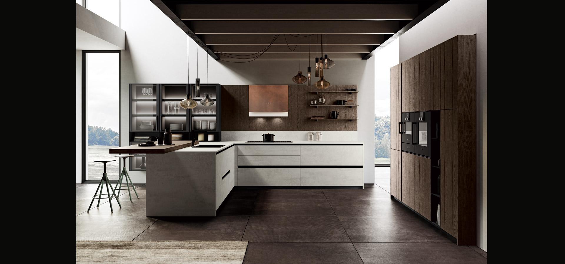 Cucina in bilaminato cemento | Ménta_05 | MITON Cucine