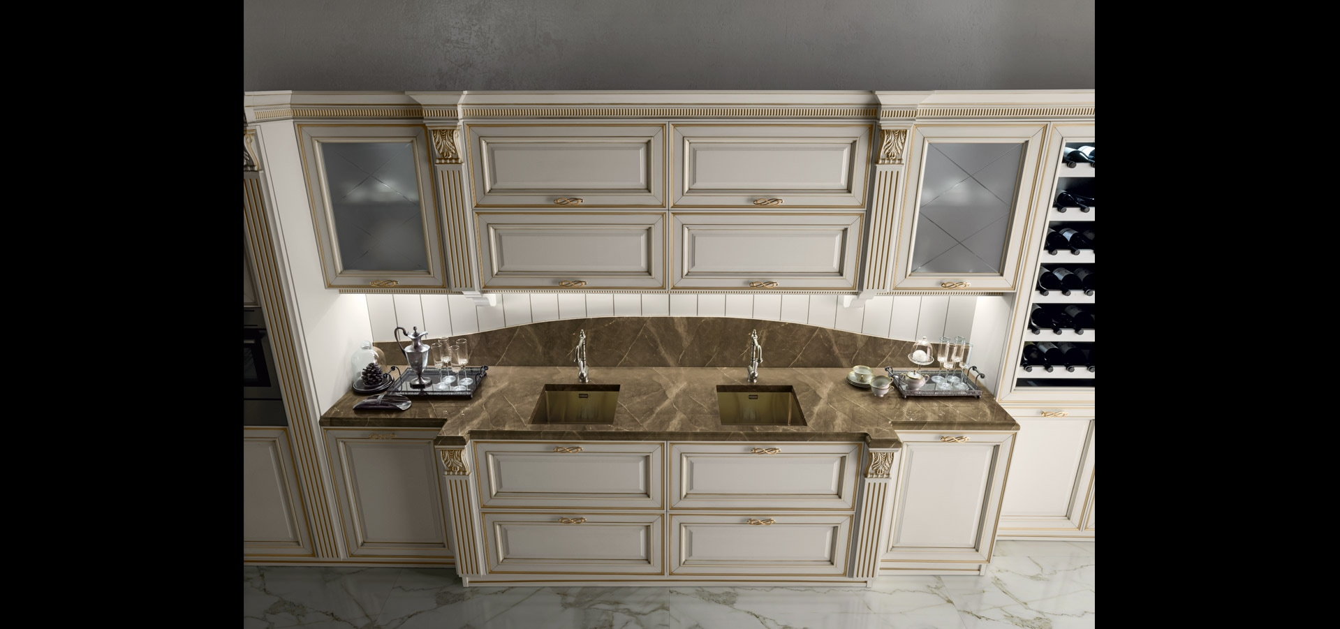 Cucina classica elegante Made in Italy | Caviar Gold | MITON Cucine