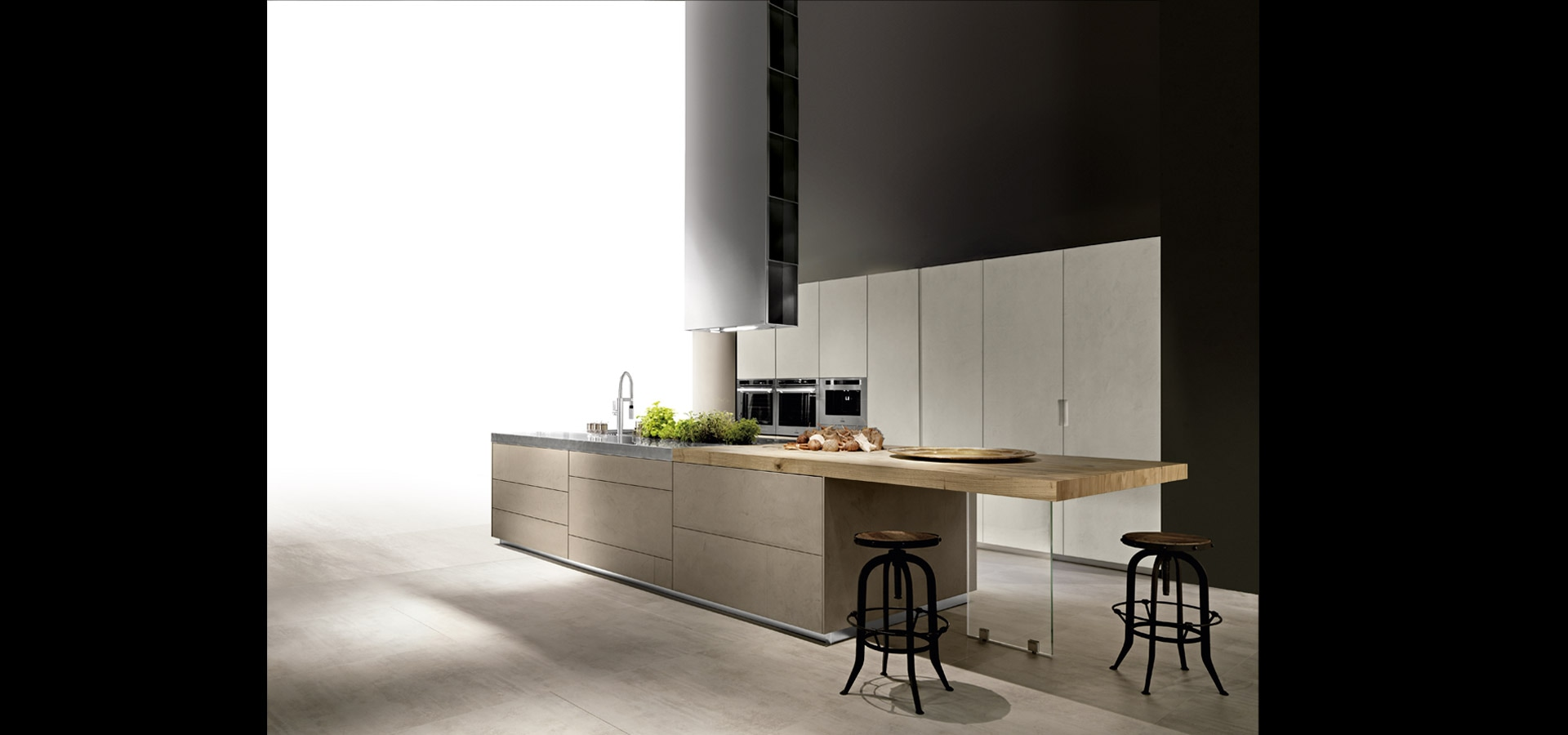 Cucina in cemento Made in Italy | Limha Cemento | MITON Cucine