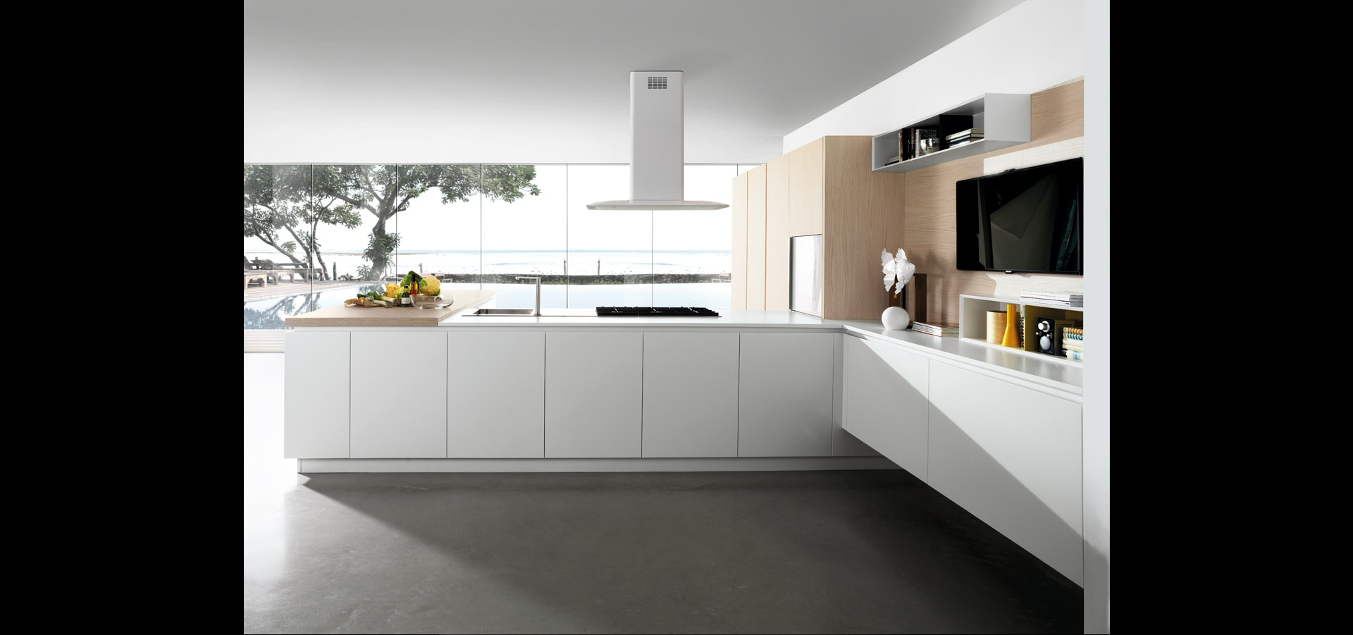 Cucina minimal Made in Italy | Limha Matt | MITON Cucine