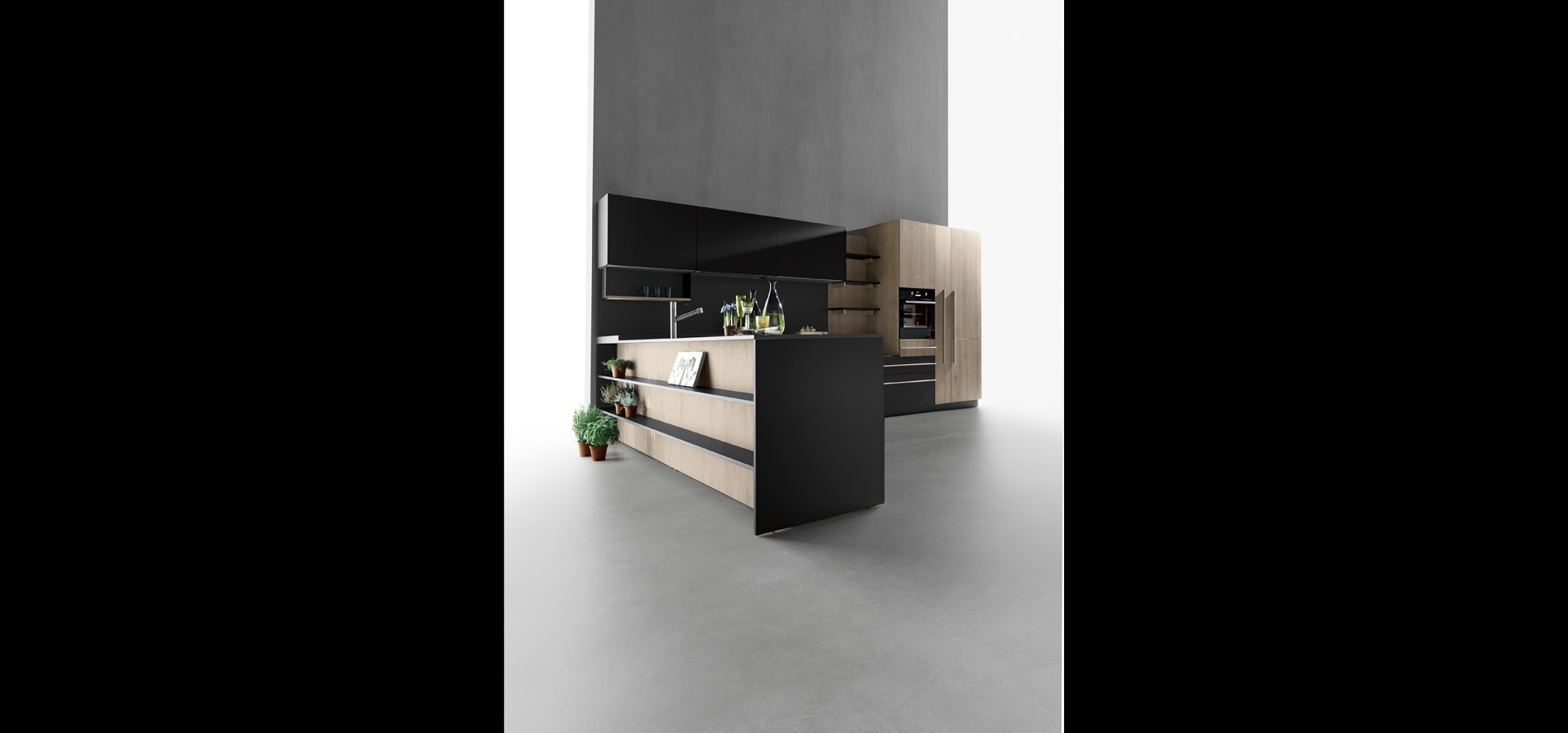 Cucina moderna in legno | Sincro Wood | MITON Cucine