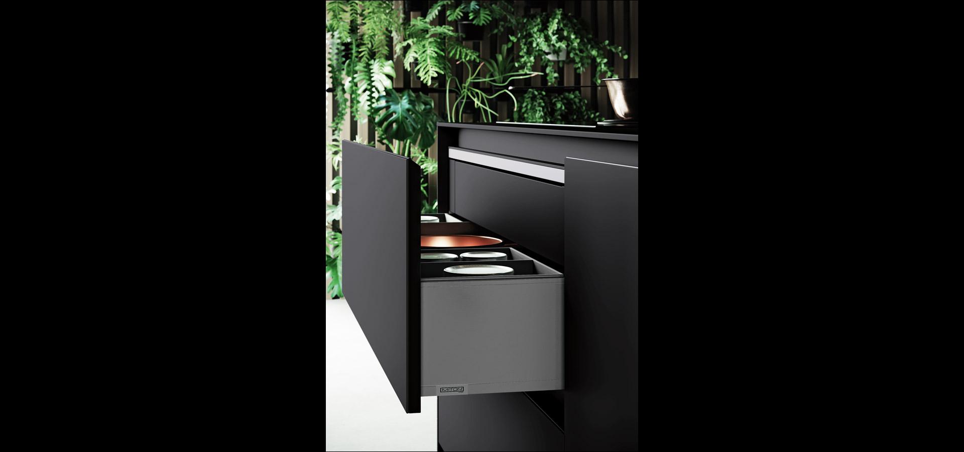 Cucina minimal in bilaminato legno rovere Nechinger | Tilo 2.0 | MITON Cucine
