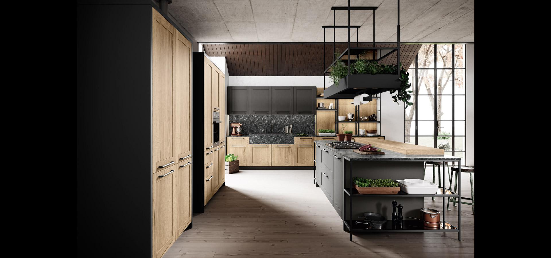 Cucina industrial con dettagli vintage | Medea | MITON Cucine