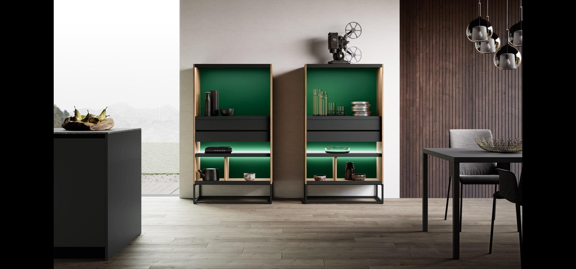 Cucina in legno noce e bilaminato opaco | Ménta_03 | MITON Cucine