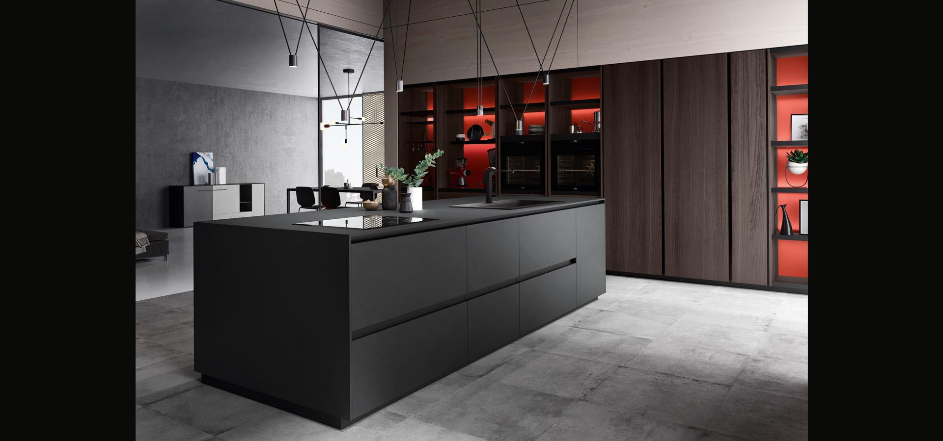 Cucina in bilaminato legno rovere | Ménta_04 | MITON Cucine