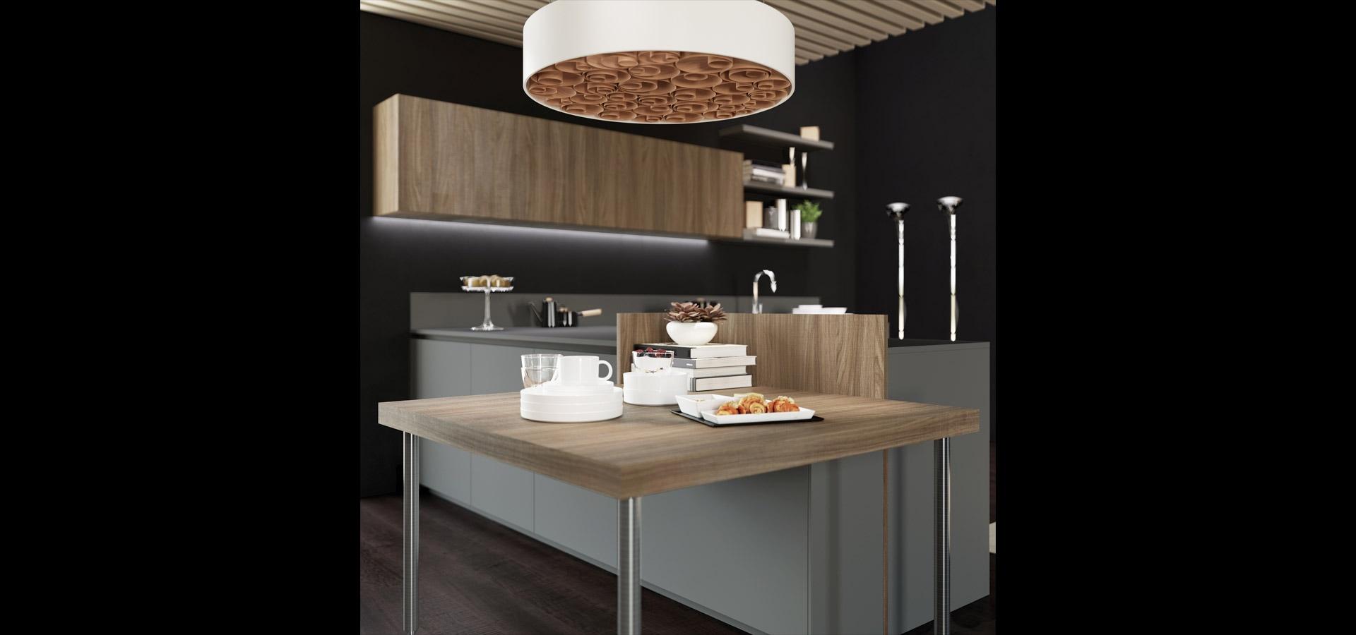 Cucina contemporanea in bilaminato legno | Ménta_06 | MITON Cucine