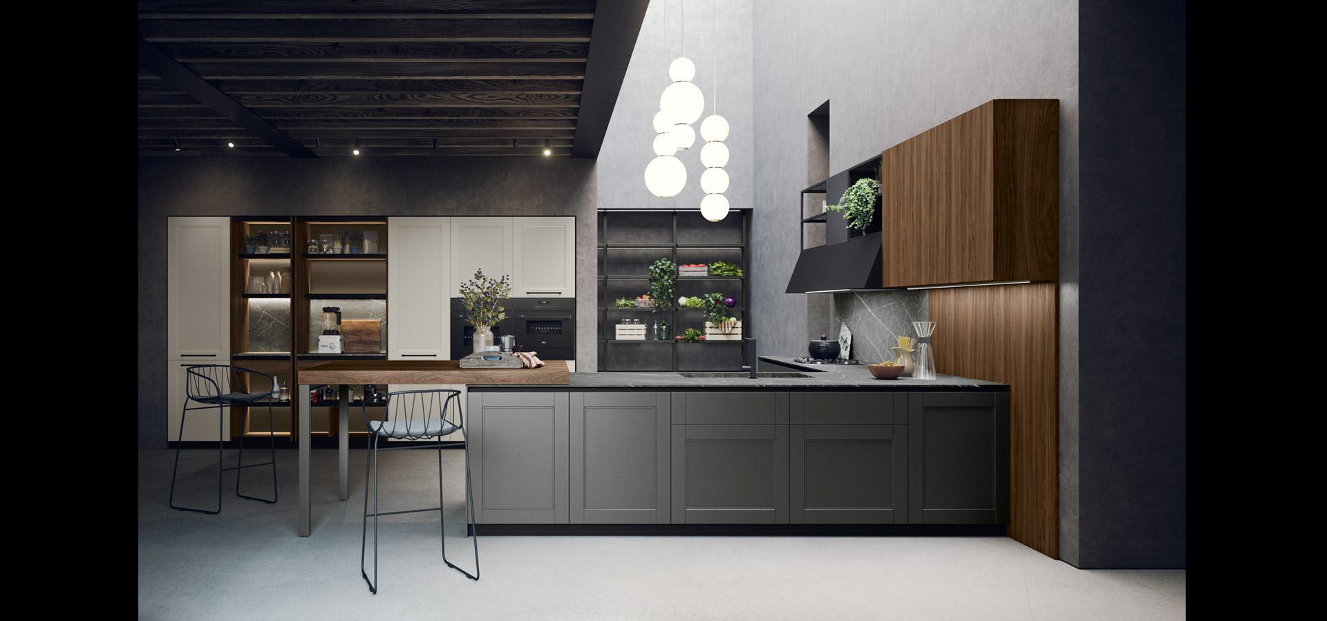 Cucina moderna in stile industrial | Talìa | MITON Cucine