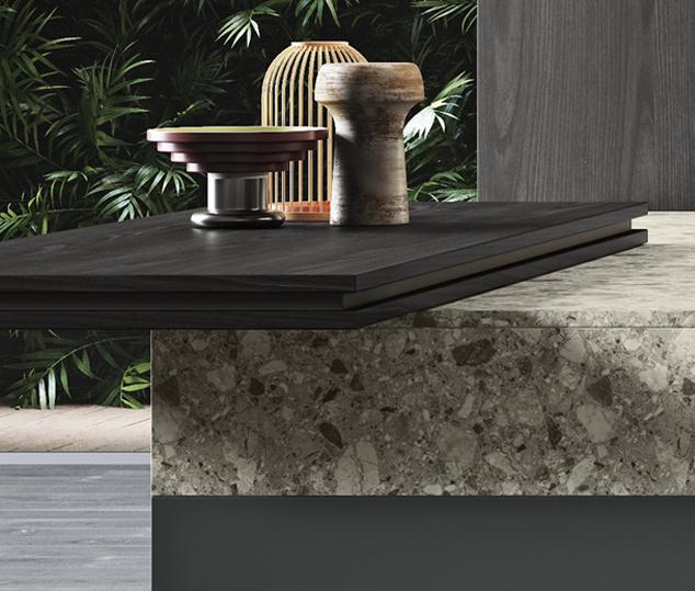 Cucina modulare elegante e funzionale | Ménta_02 - Piano Snack | MITON Cucine