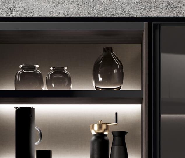 Cucina in bilaminato legno e telaio in alluminio | Ménta_01 - Sistema Waind | MITON Cucine