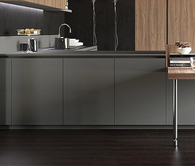 Cucina contemporanea in bilaminato legno | Anta Basi - Ménta_06 | MITON Cucine