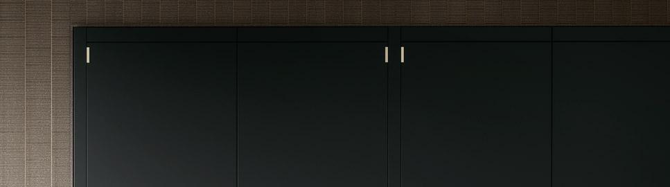 Cucina elegante in finitura ottone | Anta Colonne e Isola - Anuba | MITON Cucine