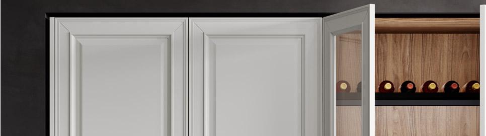 Cucina in stile neoclassico | Anta e Colonne Basi - Caviar | MITON Cucine