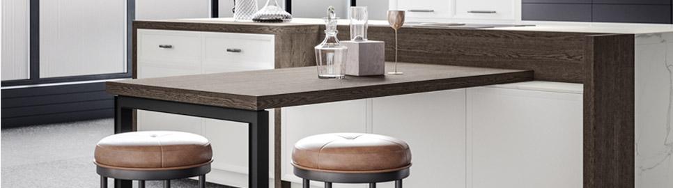 Cucina moderna bianco laccato e nero opaco | Levante Tavolo - Levante | MITON Cucine