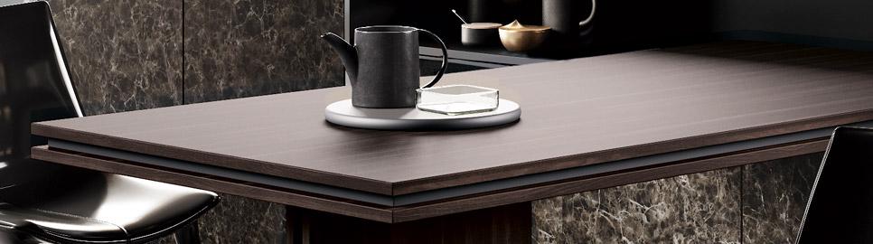 Cucina in bilaminato legno e telaio in alluminio | Méta_01 - Tavolo | MITON Cucine