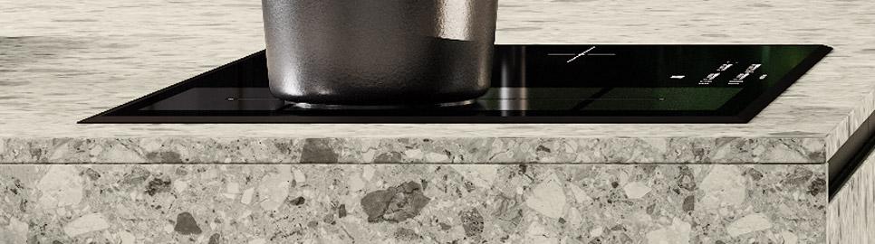 Cucina modulare elegante e funzionale | Ménta_02 - Anta e Worktop Isola | MITON Cucine