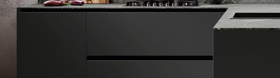 Cucina in legno noce e bilaminato opaco | Ménta_03 - Anta e Basi Pensili | MITON Cucine