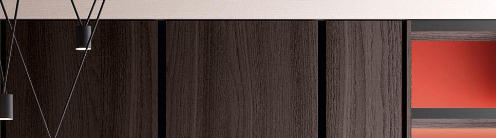 Cucina in bilaminato legno rovere | Anta Colonne - Ménta_04 | MITON Cucine