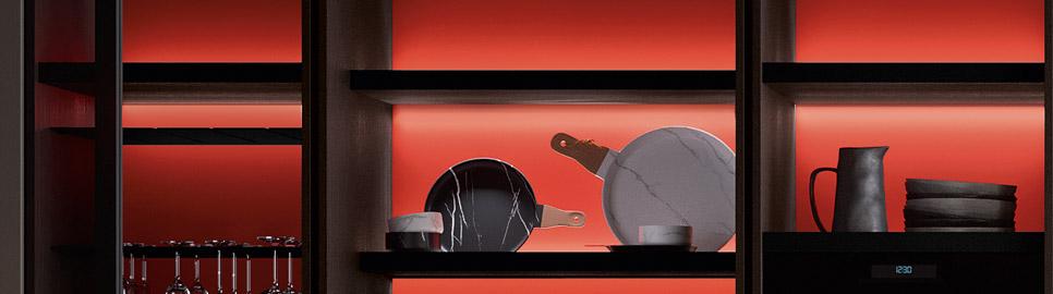 Cucina in bilaminato legno rovere | Sistema Waind - Ménta_04 | MITON Cucine