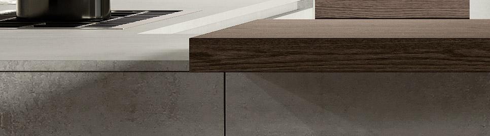 Cucina in bilaminato cemento | Piano snack - Ménta_05 | MITON Cucine
